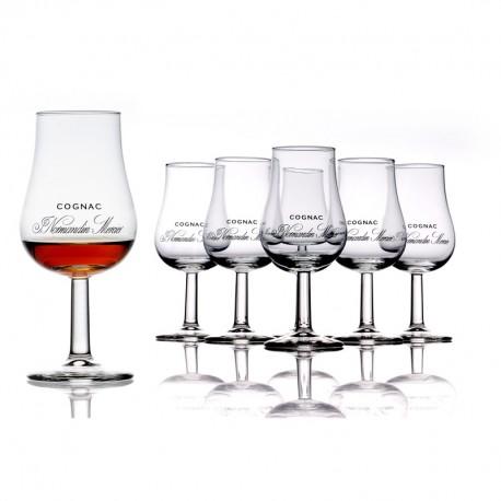 6 Verres de cognac Normandin-Mercier